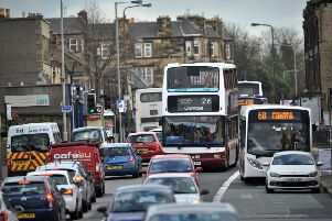 St Johns Road is one of the worst roads in Scotland for traffic congestion. Picture: TSPL