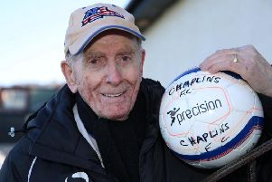 Larry Barilli, 83, from Greenock, has been involved in amateur football management since he was 18 years old