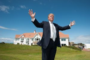 The ads taken down include several posted by Trump's flagship Scottish property, Turnberry. Picture: John Devlin
