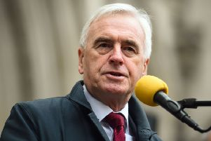 Shadow Chancellor John McDonnell said Churchill's role in the Tonypandy riots of 1910 meant he was a 'villain' rather than a hero (Picture: Kirsty O'Connor/PA Wire)