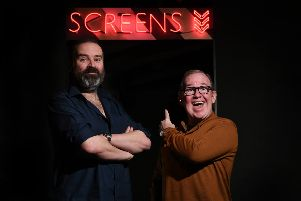 "John Devlin 24/01/2019. GLASGOW. EVERYMAN CINEMA. Unit 3 - 5, Princes square, Buchanan St, Glasgow G1 3JN.''PLEASE GIVE THE CINEMA A SHOUT OUT IF POSSIBLE.''Ford Kiernan and Greg Hemphill for Still Game feature. Embargoed until the 16th February.''Still Game, Ep1/6 �' Local Hero �S(TM) NEW�(R)Sunday 24 February'BBC Scotland, 9.00-9.30pm''Jack, Victor and the rest of the Craiglang gang are back for the much-anticipated ninth �' and final �' series of Still Game as the iconic comedy goes into retirement. 'Created, written by and starring Ford Kiernan and Greg Hemphill, the final series celebrates growing old disgracefully as the riotous pensioners rail against everything modern life has to throw at them. 'Debuting on BBC Scotland�""s new digital channel and on BBC One later in the year, this first episode sees Craiglang hail a new internet sensation, while Jack and Victor decide it�""s high time to get tech-savvy. 'When Isa is mugged, Winston comes to her rescue, little realising his heroic deed is being fi"