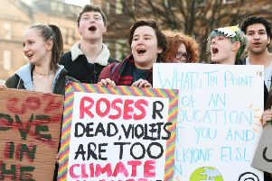 Hundreds of young people take part in the Youth Strike 4 Climate Change in Glasgow's George Square (Picture: John Devlin)