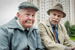 Jack (Ford Kiernan) and Victor (Greg Hemphill), Scotland's most-loved pensioners, pictured  above with their Still Game co-stars, have decided to give movie fame a miss, saying the big screen is not for them. Picture: Alan Peebles