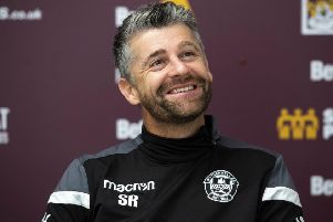 Motherwell manager Stephen Robinson. Pic: SNS/Gary Hutchison