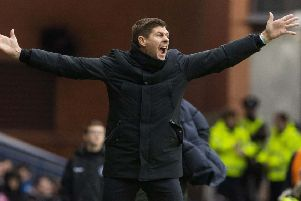 Rangers Manager Steven Gerrard was frustrated after his side's draw. Pic: SNS/Alan Harvey