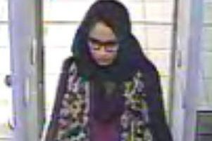 This video grab taken from CCTV shows Shamima Begum. Picture: AFP/Getty Images