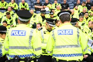 Police Scotland were criticised by football fans. Picture: Javier Garcia/REX/Shutterstock (8862265b)