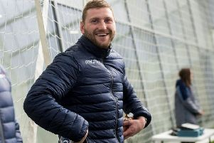Finn Russell reported for Scotland training yesterday, less than 24 hours after picking up a head knock playing for his club Racing 92. Pic: SNS