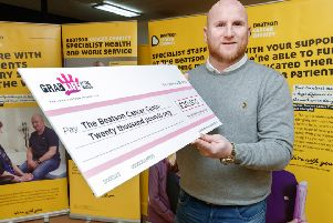 John Hartson was speaking as he presented a cheque for �20,000 on behalf of his Foundation to the Beatson Cancer Charity in Glasgow. The Hartson Foundation is on course to break the �1million barrier this year for funds raised.