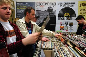 Some small businesses like record store have seen their sales take off thanks to the internet. Picture: Ian Rutherford