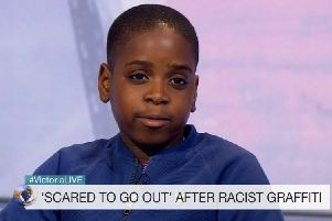 David Yamba, eight, was appearing on the Victoria Derbyshire Show