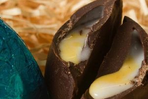 One of the vegan cream eggs produced by chocolatier Mummy Meagz