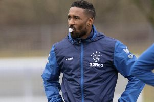 Rangers' Jermain Defoe trains ahead of the Scottish Cup replay against Kilmarnock. Picture: SNS