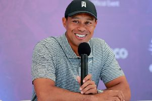 Tiger Woods speaks ahead of the World Golf Championship event in Mexico. Picture: Hector Vivas/Getty Images