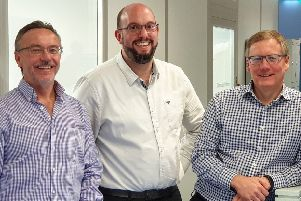 L-R: Steve McMahon, Nick Psaila and Mark Hesketh of Optoscribe. Picture: Contributed