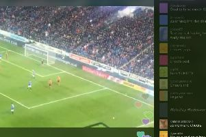 Fans who couldn't make the game tuned into the live stream. Picture: UGC