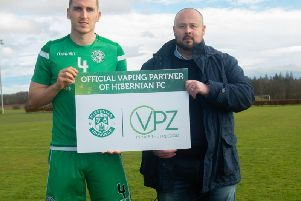 Hibs announced a partnership with Edinburgh vaping firm VPZ.
