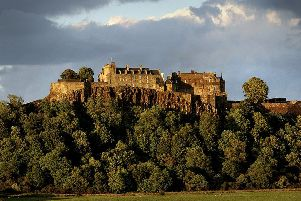 The train runs from Stirling castle
