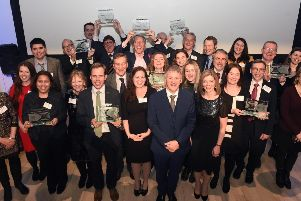 Winners of the Scottish Knowledge Exchange Awards 2019. Picture: Greg Macvean