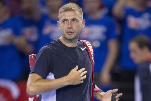 Dan Evans is through to his first final since a cocaine ban.   Picture Ian Rutherford