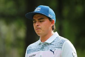 Rickie Fowler was penalised for taking a shoulder height drop. Picture: Hector Vivas/Getty Images