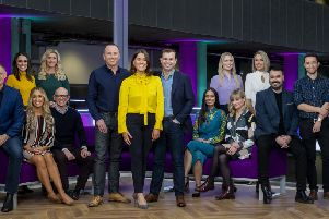 The team behind The Nine ' the BBC Scotland team that will bring the national and international news to Scotland in the new channel's flagship nightly hour-long programme.''Picture: BBC