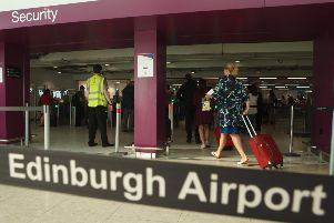 The security Section of Edinburgh Airport. Pic: Toby Williams