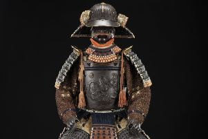 A suit of samurai armour' in the Exploring East Asia gallery at the National Museum of Scotland