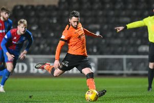 Nicky Clark scores a penalty for Dundee United to put them 1-0 in front against Inverness. Picture: SNS