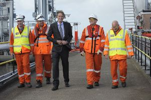 Ineos chairman Jim Ratcliffe (C) on a previous visit to the INEOS plant in Grangemouth (Photo: BUCHANAN/AFP/Getty Images)