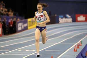 Laura Muir is aiming to defend the European Indoors title she won in Belgrade two years ago. Picture: David Davies/PA Wire