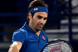 Roger Federer maintained his 100% record against Fernando Verdasco. Picture: AFP/Getty Images