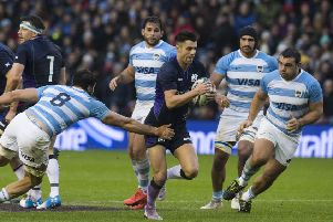 Scotland faced Argentina in the Autumn Test series, but they could face the Pumas again as part of the new World League. Picture: SNS Group
