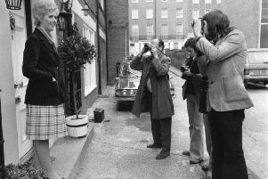 Baroness Falkender, then Marcia Williams, poses for the press in May 1974, the same year she was elevated to the peerage. (Picture: Aubrey Hart/Evening Standard/Hulton Archive/Getty Images)