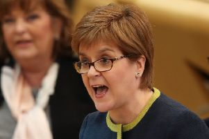 First Minister Nicola Sturgeon has slammed Scottish Secretary David Mundell after he and other Tories helped vote down an SNP bid to rule out a no-deal Brexit. Picture: Jane Barlow/PA Wire