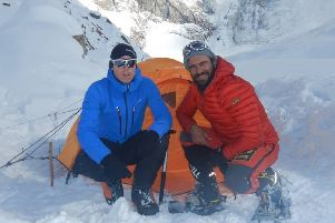 Scots climber Tom Ballard and Italian Daniele Nardi have been missing on Pakistan's notoriously dangerous mountain Nanga Parbat, nicknamed Killer Mountain, since 24 February. Picture: Daniele Nardi/Facebook