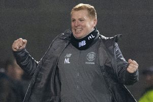Neil Lennon made a winning start on his return to Celtic as his side defeated Hearts at Tynecastle on Wednesday night. Picture: SNS