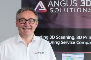 My engineering career would not have happened without that first apprenticeship, says Andy Simpson, managing director of Angus 3D Solutions. Picture: Alan S. Morrison