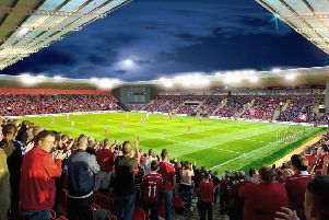 An artist's impressions of the proposed new stadium. Picture: Contributed
