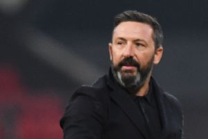 Derek McInnes admits 'there is no love lost' between Aberdeen and Rangers. Picture: SNS.
