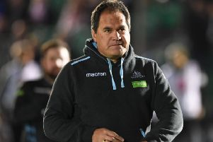 Glasgow Warriors head coach Dave Rennie says his side will go all out to reclaim top spot in Conference A of the Guinness Pro14. Picture: SNS/SRU