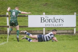 Heriots' Craig Robertson scores a try. Pic: SNS/SRU/Ross Parker