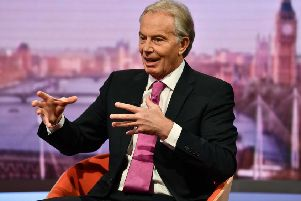 Former prime minister Tony Blair appearing on the BBC One's Andrew Marr Show. Picture: PA