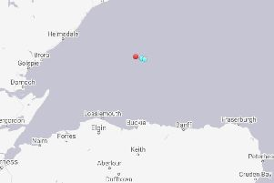 An image taken from marine tracking software showing Russian vessels operating in the Moray Firth