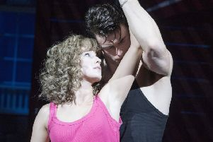 Kira Malou as Baby and Michael O'Reilly as Johnny) in Dirty Dancing at the Festival Theatre