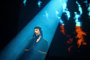 Milan Fras of Laibach PIC: Jure Makovec/AFP/Getty Images)