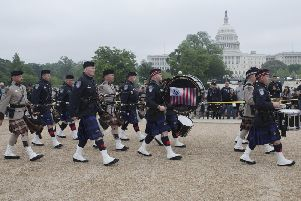 The U.S. Customs and Border Protection pipe band performs at a Pipes and Drums Competition in Washington D.C. Picture: Donna Burton/Flickr