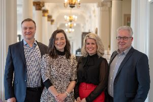 From left: John McNicol, Lynn Hall, Susie Fisher and Angus Hay of investor Kelvin Capital. Picture: Contributed