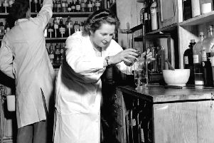 Margaret Thatcher worked as a laboratory assistant in London in the 1950s. Picture:  Zuma/REX/Shutterstock