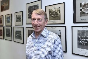 Now 82, Ken Scotland is 'pictured at home in Edinburgh, in his 'nostalgia/vanity room'. Picture: Neil Hanna